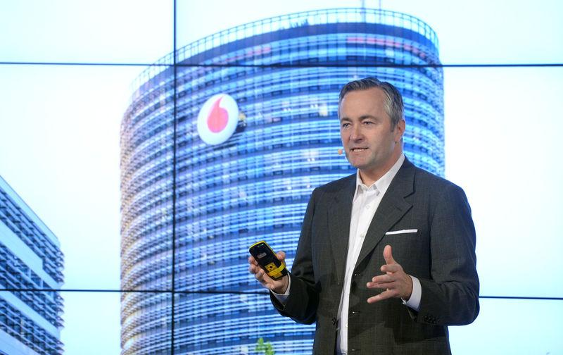 FILE PHOTO: Vodafone Deutschland CEO Hannes Ametsreiter speaks to media at the CeBIT trade fair in Hannover