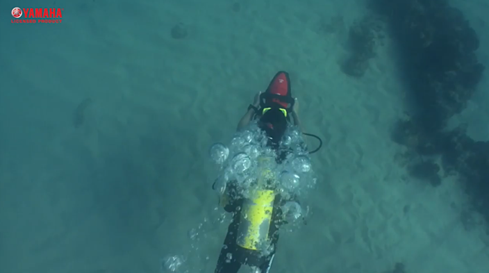 A sea scooter like the one used in the attempted escape (YouTube / Yamaha)