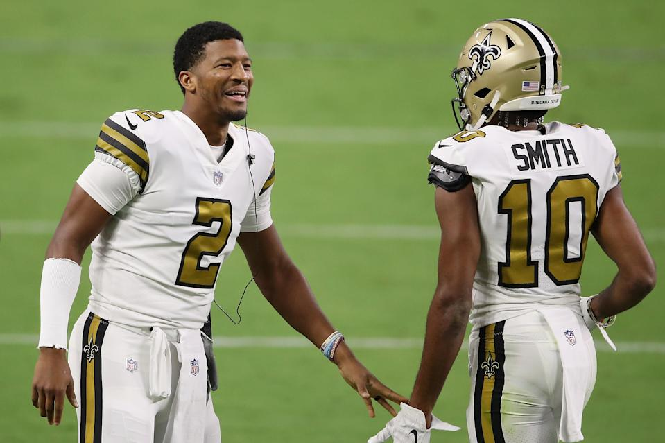 Saints quarterback Jameis Winston enjoyed beating his former team. (Photo by Christian Petersen/Getty Images)