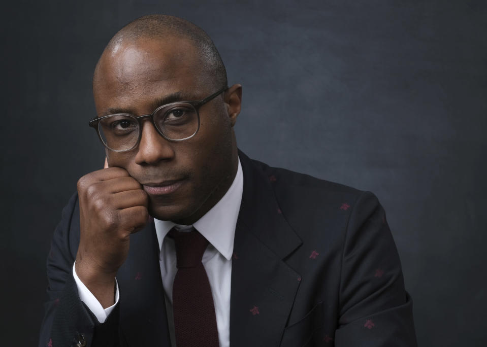 """FILE - Filmmaker Barry Jenkins poses for a portrait at the 91st Academy Awards Nominees Luncheon in Beverly Hills, Calif. on Feb. 4, 2019. Jenkins' latest project, the 10-hour limited series """"The Underground Railroad,"""" premieres Thursday on Amazon. (Photo by Chris Pizzello/Invision/AP, File)"""