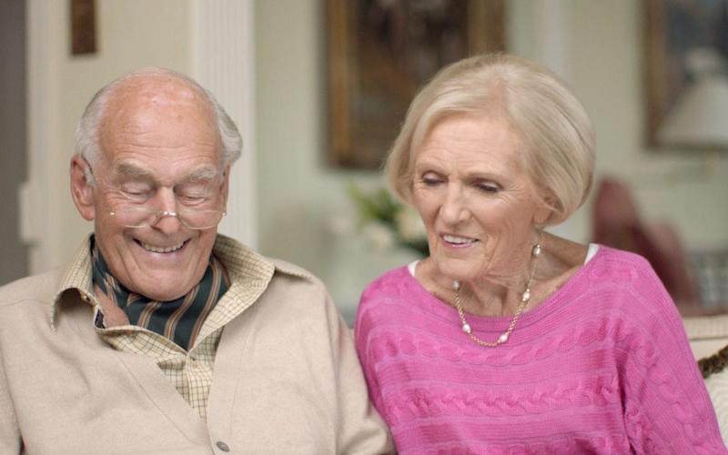Mary Berry with her husband Paul - Credit: BBC