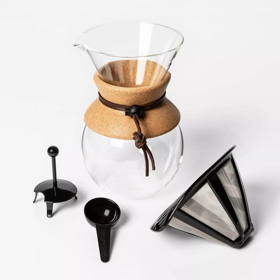 <p>Coffee-lovers will appreciate the <span>Pour Over Coffee Maker</span> ($20). It's great for small spaces like apartments and doesn't require paper filters!</p>