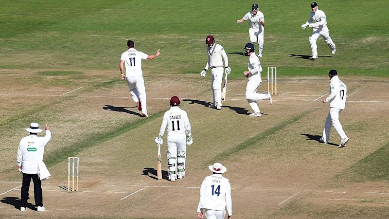 Kyle Abbott, pictured here celebrating the wicket of George Bartlett.