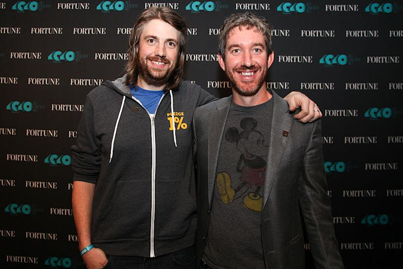 Co-founders Mike Cannon-Brookes and Scott Farquhar. Image: Getty