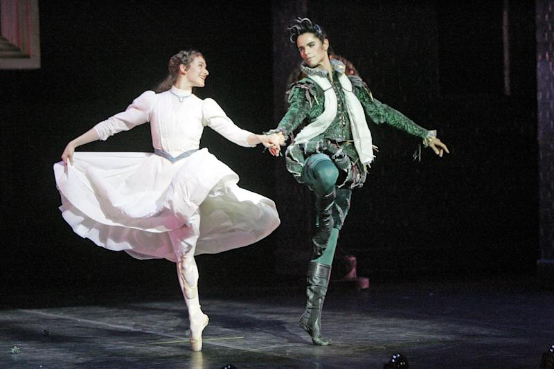 <strong>Andre on stage in an English National Ballet production in 2006.</strong> (Rex)
