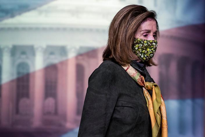 Speaker of the House Rep. Nancy Pelosi (D-Calif.) faces her first major test in the new Congress in the push to pass a$1.9 trillion COVID-19 relief bill that is President Joe Biden's top priority. (Photo: Tasos Katopodis/Getty Images)