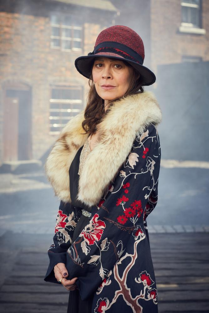 Helen McCrory as the imperious matriarch Aunt Polly in the BBC's Peaky Blinders.