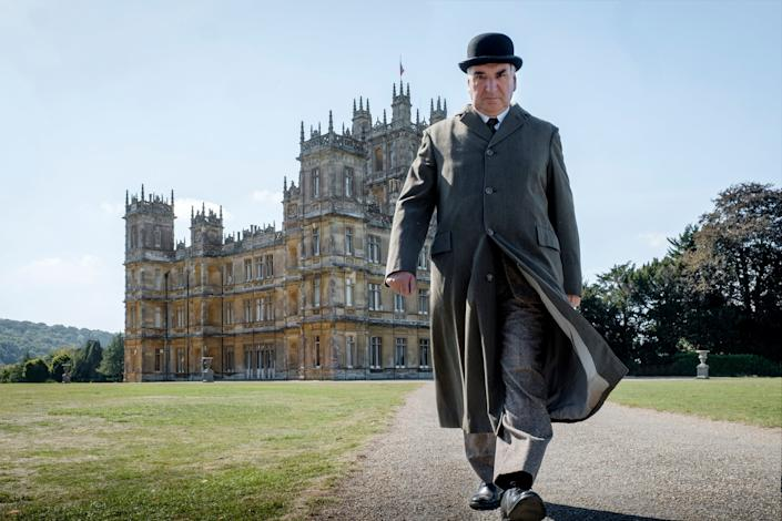 Jim Carter as Mr Carson in a scene from Downton Abbey: AP