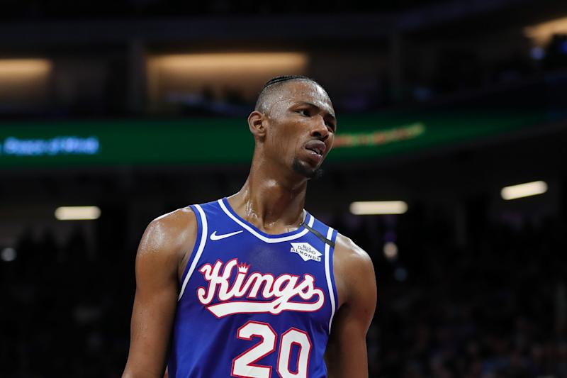 Sacramento Kings' Harry Giles III during the game against the Philadelphia 76ers, March 5, 2020 in Sacramento, Calif.