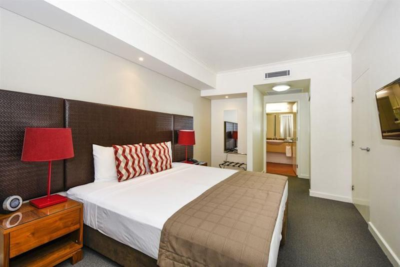 The cost of a hotel room can be as little as $130 a night. Source: Mantra