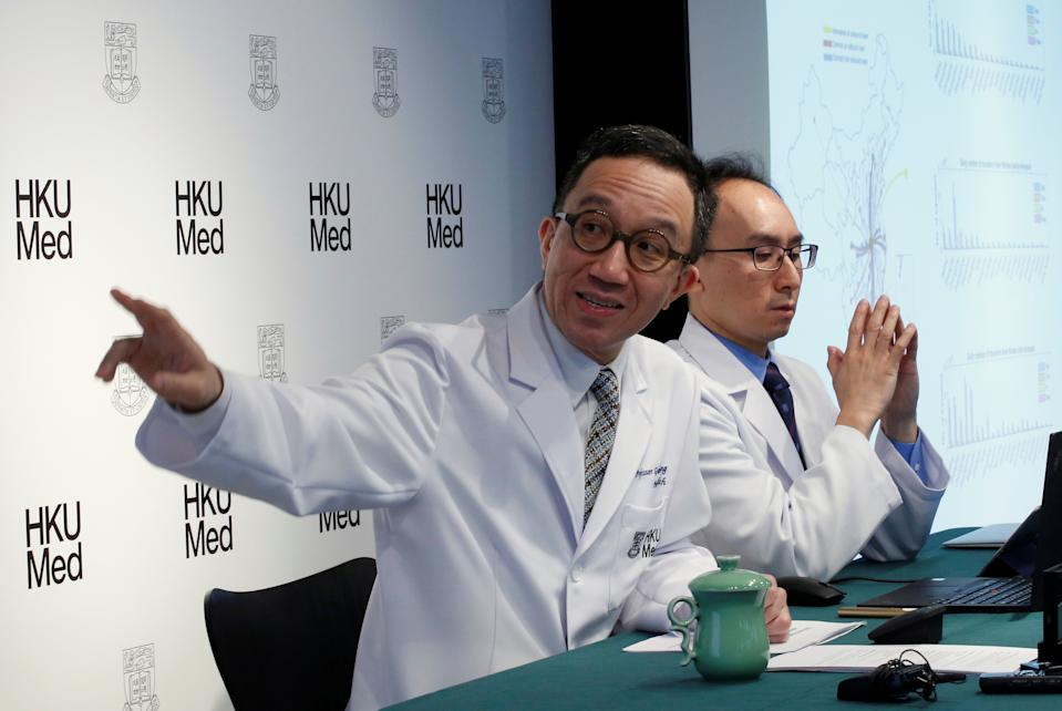 Gabriel Leung, Chair Professor of Public Health Medicine at the Faculty of Medicine at the University of Hong Kong (HKUMed), speaks about the extent of the Wuhan coronavirus outbreak in China during an news conference, in Hong Kong, China, January 21, 2020. REUTERS/Tyrone Siu