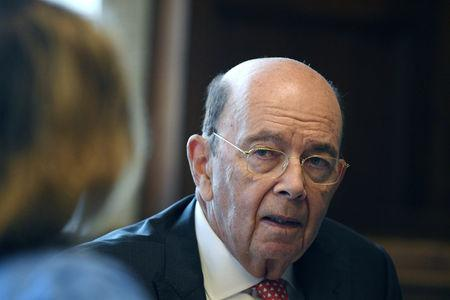 U.S. Secretary of Commerce Wilbur Ross answers questions during an interview with Reuters in his office at the U.S. Department of Commerce building in Washington, U.S., October 5, 2018. REUTERS/Mary F. Calvert