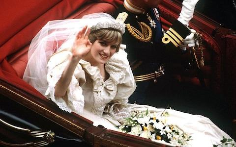 Lady Diana Spencer wearing the Spencer tiara on her wedding day in 1981 - Credit: Terry Fincher/Princess Diana Archive/Getty Images