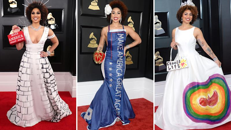 Joy Villa Pro Trump Grammys Dress
