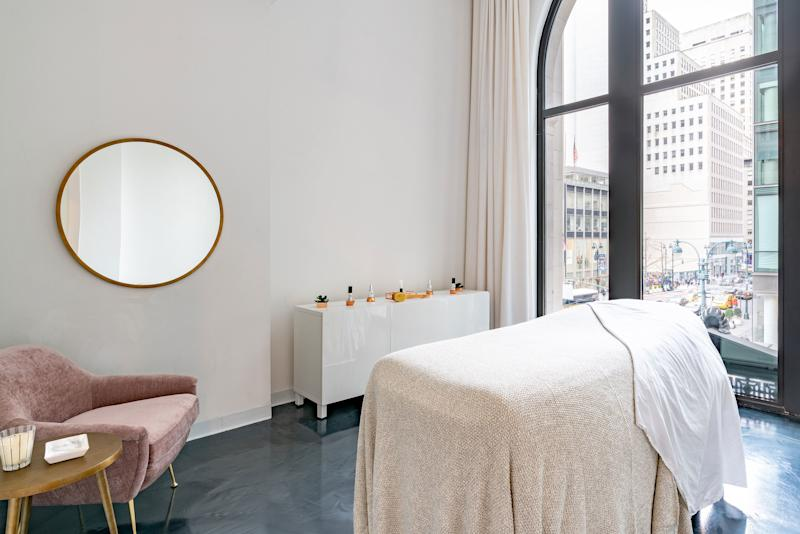 Vargas's new treatment rooms overlook Fifth Avenue.