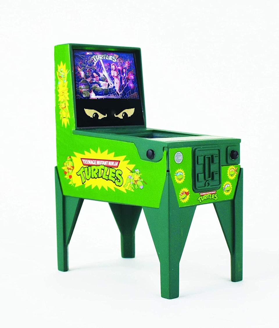 <p>Give someone the gift of retro gaming with this <span>Boardwalk Arcade Teenage Mutant Ninja Turtles Electronic Pinball</span> ($20). </p>