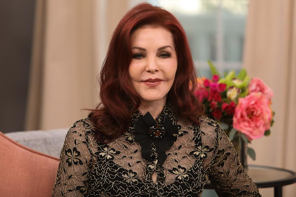 Priscilla Presley, here in Feb. 2020, revealed her mother passed away on Aug. 3.