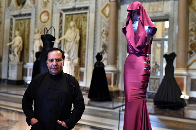 Azzedine Alaïa at an exhibition of his designs in Rome, 2015: AFP/Getty