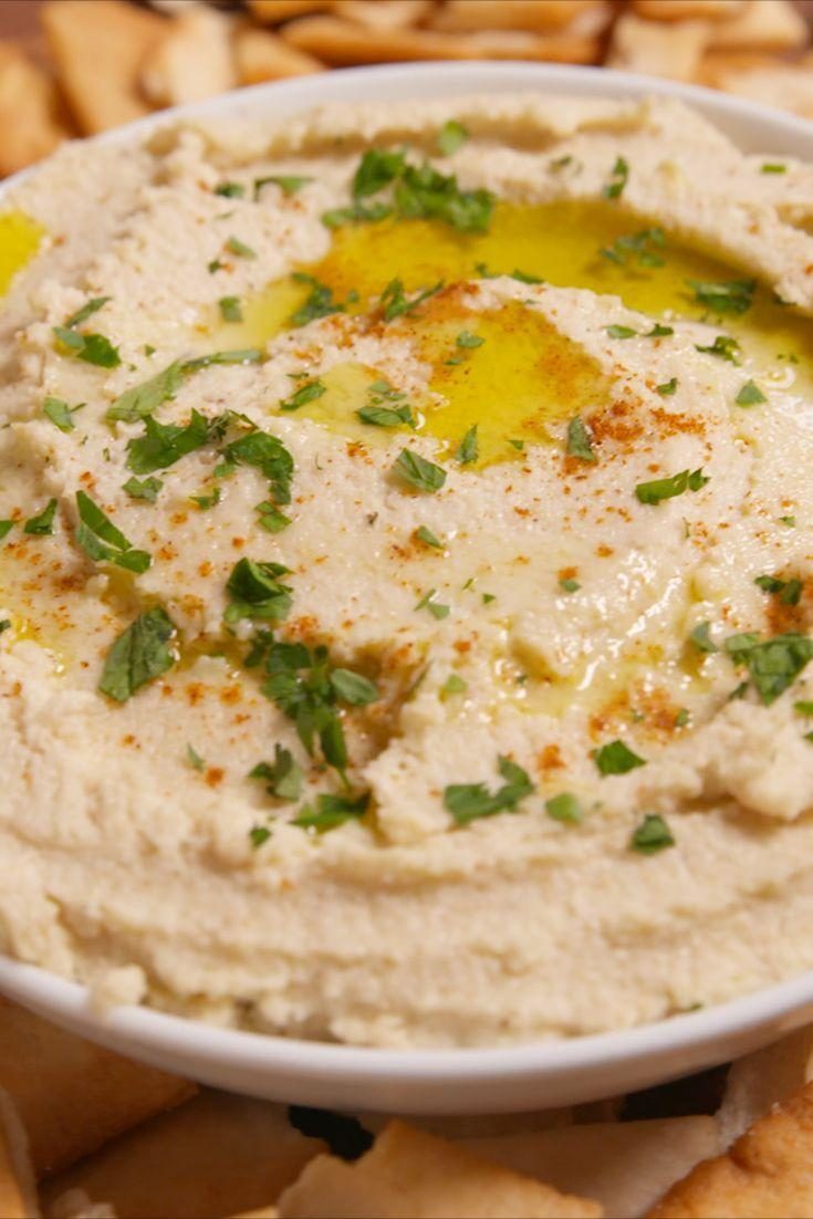 """<p>So creamy and delicious you'll forget you're eating vegetables!</p><p>Get the recipe from <a href=""""/cooking/recipe-ideas/recipes/a50843/cauliflower-hummus-recipe/"""" data-ylk=""""slk:Delish"""" class=""""link rapid-noclick-resp"""">Delish</a>.</p>"""