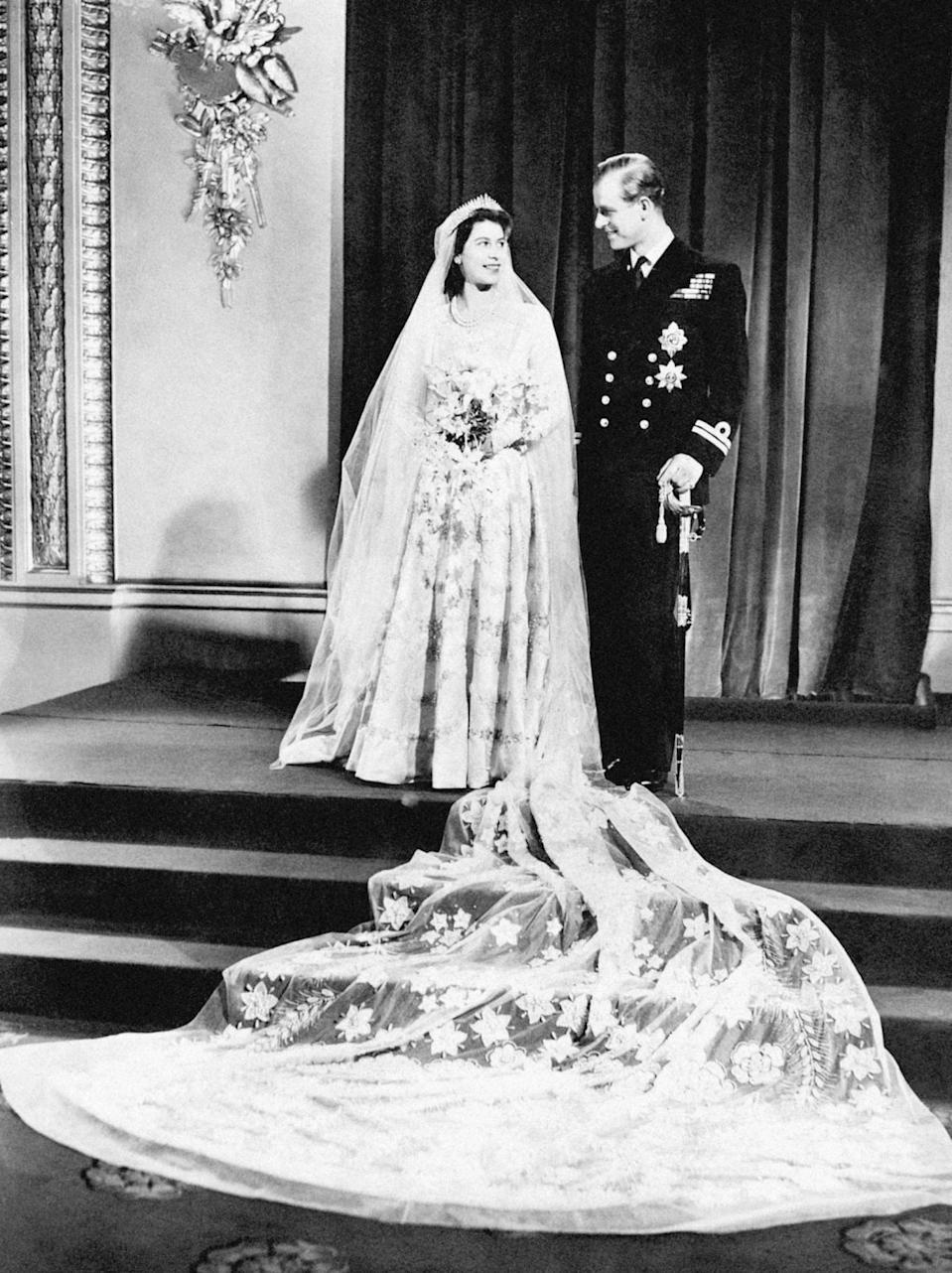 Princess Elizabeth and the Duke of Edinburgh on their wedding day in 1947 (PA Archive/PA Images)