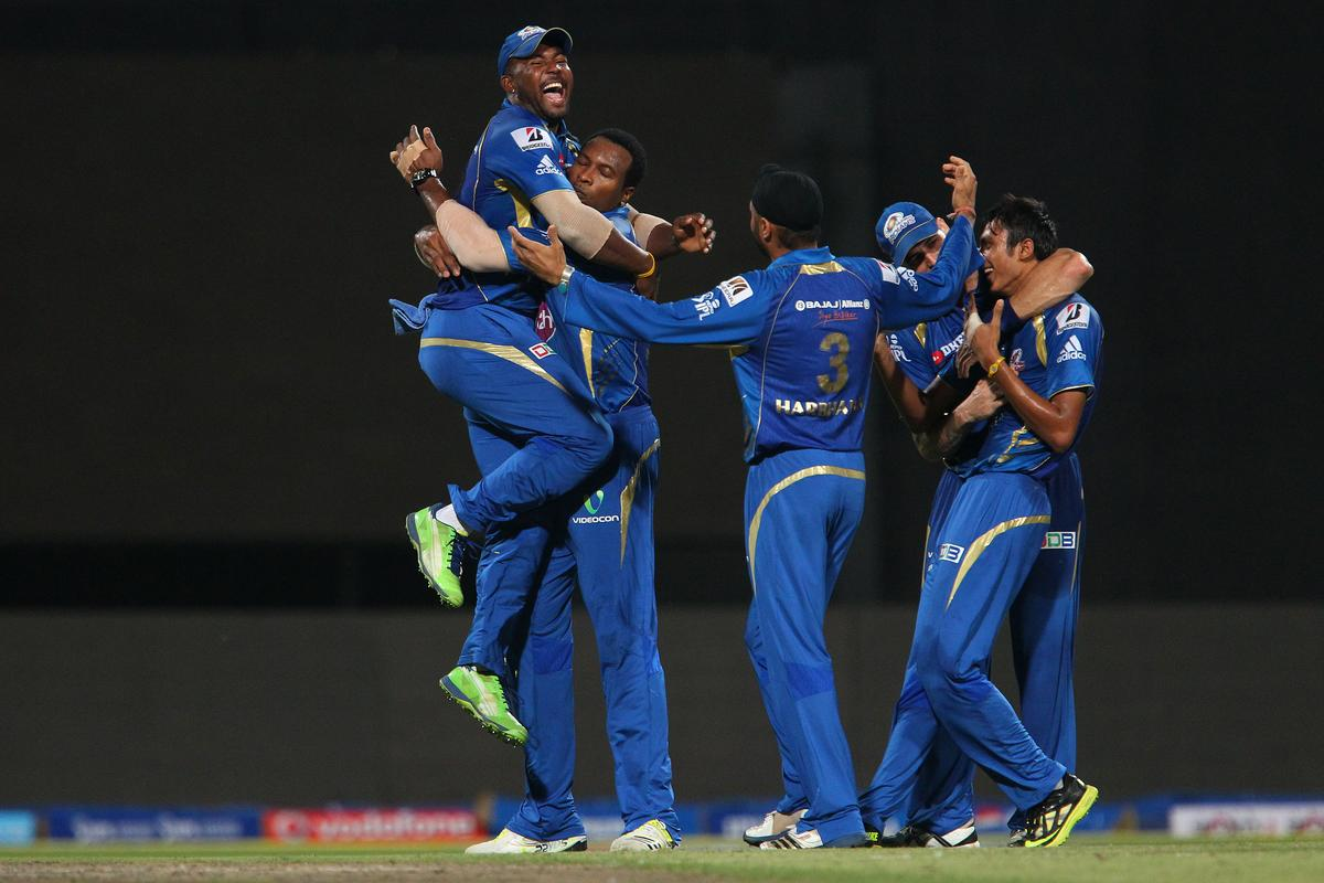 Kieron Pollard celebrates the wicket of Ravichandran Ashwin during the Final of the Pepsi Indian Premier League between The Chennai Superkings and the Mumbai Indians  held at the Eden Gardens Stadium in Kolkata on the 26th May 2013..Photo by Ron Gaunt-IPL-SPORTZPICS      ..Use of this image is subject to the terms and conditions as outlined by the BCCI. These terms can be found by following this link:..https://ec.yimg.com/ec?url=http%3a%2f%2fwww.sportzpics.co.za%2fimage%2fI0000SoRagM2cIEc&t=1500807245&sig=28CjHtiVSiVw_ttswVeQew--~C