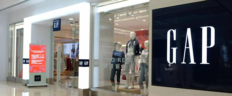 HONG KONG - FEBRUARY 4, 2018: Gap store in Hong Kong. Gap is an American multinational clothing and accessories retailer.