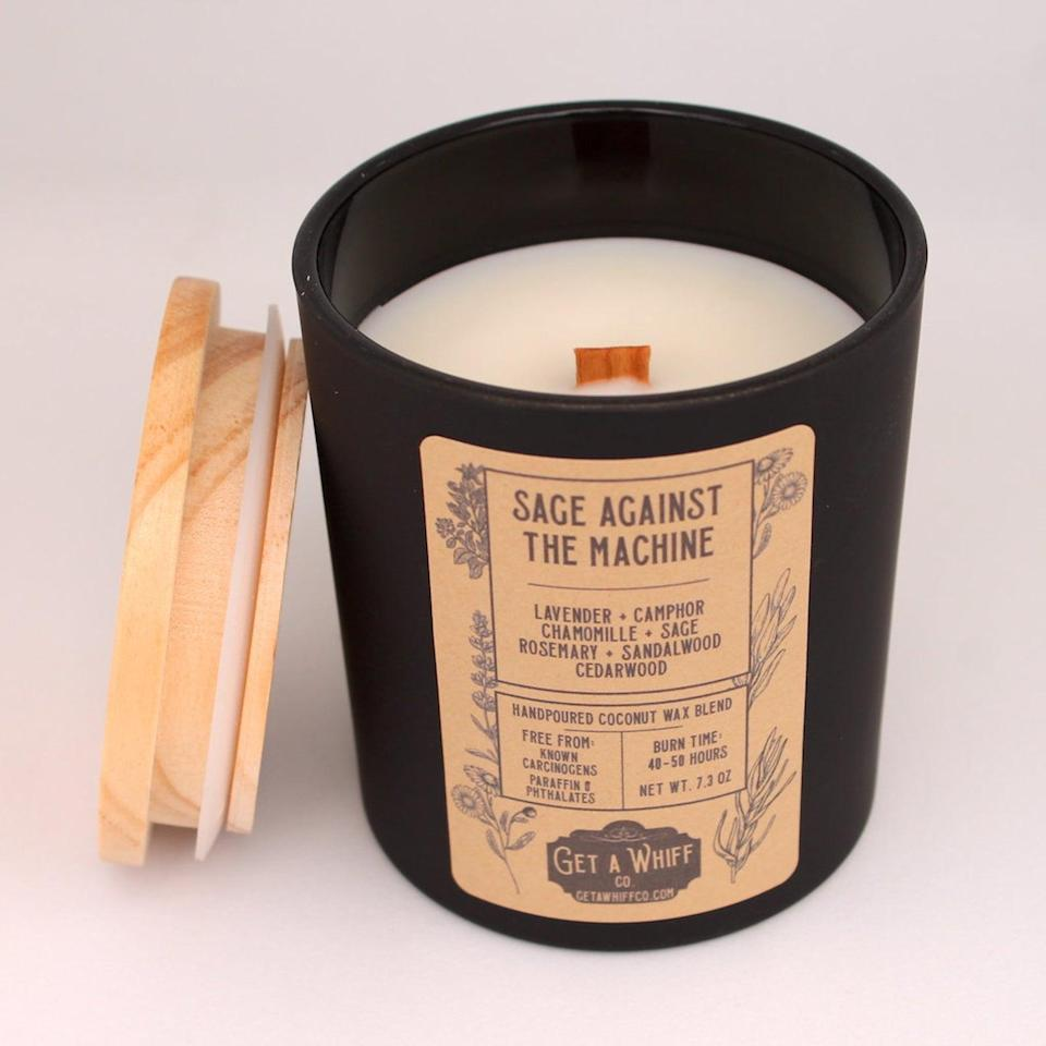 <p>If they love ASMR, they'll truly enjoy the sensorial experience of the <span>Sage &amp; Lavender Wood Wick Candle</span> ($26). When you burn it, it crackles like a fireplace. </p>