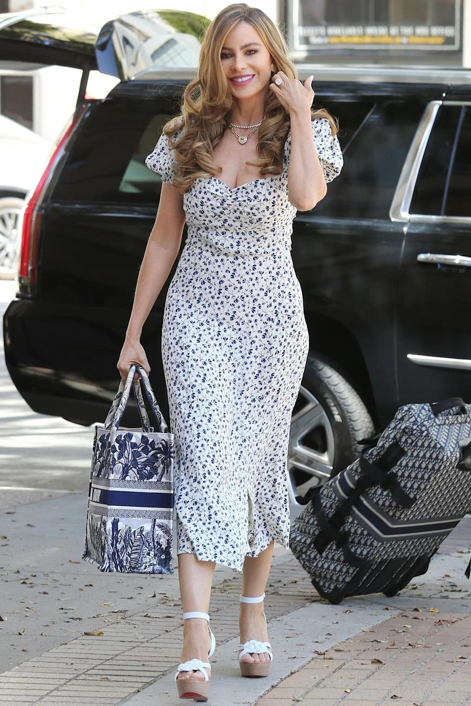<p>Sofia Vergara was spotted arriving at the set of <em>America's Got Talent</em> in Pasadena, California.</p>