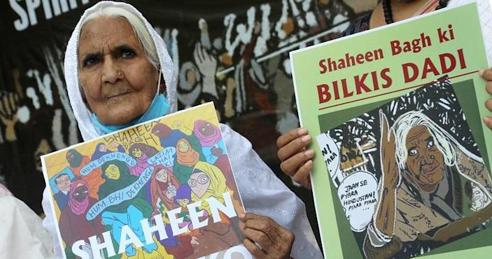 Time magazine's recognition of Bilkis Bano has restarted a positive conversation about the Shaheen Bagh Dadis, who have not forgotten the movement and not forgiven those who threaten it. (Photo by Naveen Sharma/SOPA Images/LightRocket via Getty Images)