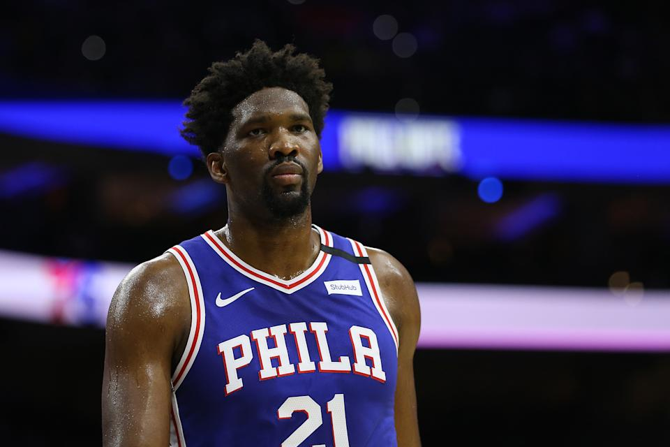 Joel Embiid has stayed healthy after an injury-riddled start to his NBA career. (Photo by Rich Schultz/Getty Images)