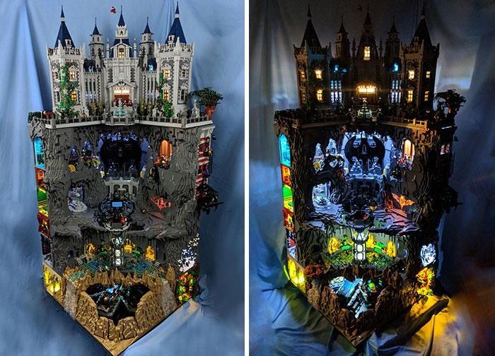 "Foto: Reddit/<a href=""https://www.reddit.com/r/lego/comments/8pb2eb/wayne_manor_and_batcave_complete_video_in_comments/"">WetWired</a>"
