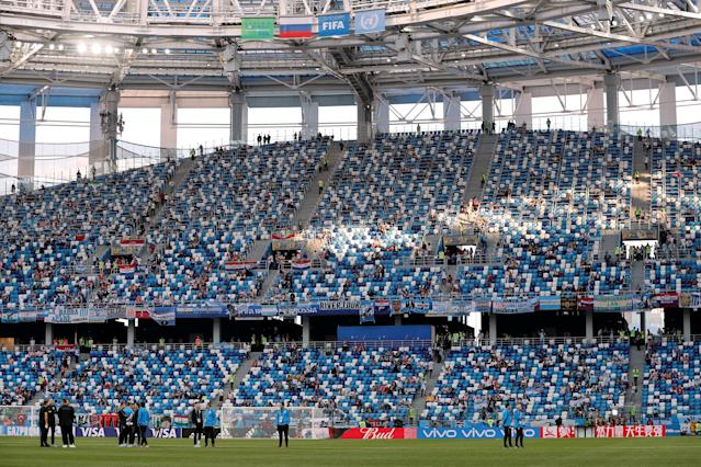 Soccer Football - World Cup - Group D - Argentina vs Croatia - Nizhny Novgorod Stadium, Nizhny Novgorod, Russia - June 21, 2018 General view inside the stadium before the match REUTERS/Murad Sezer