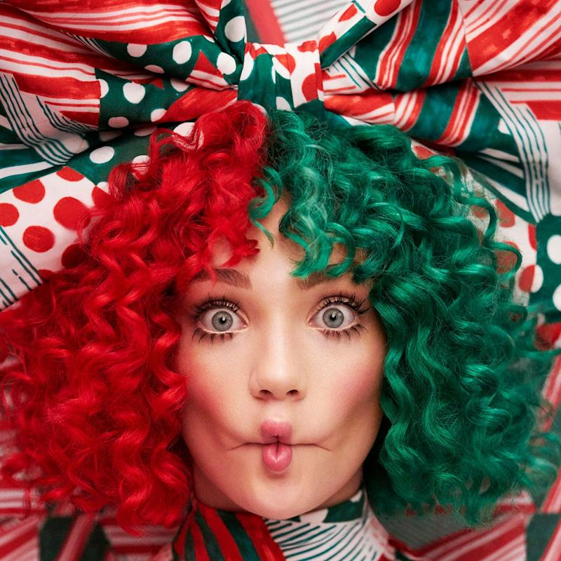 """Frequent Sia collaborator Maddie Ziegler appears on the cover of Sia's holiday album, """"Everyday Is Christmas."""""""