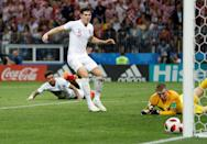 <p>Close! Croatia almost take the lead as the ball hits the post </p>