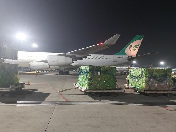 A visual of the batch of oxygen concentrators that reached India from Iran (ANI).
