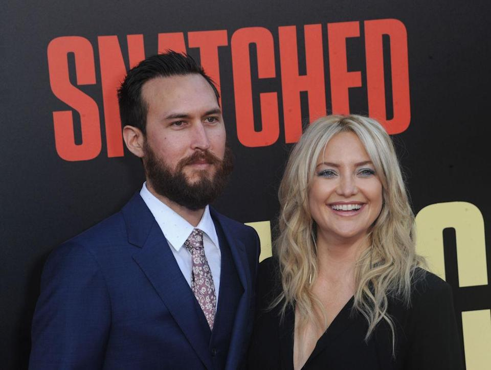 Danny Fujikawa and Kate Hudson at the L.A. premiere of <em>Snatched</em> in May 2017. (Photo: Albert L. Ortega/Getty Images)