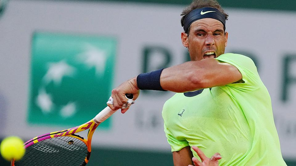 Rafael Nadal has withdrawn from Wimbledon and the French Open. (Photo by Gao Jing/Xinhua via Getty Images)