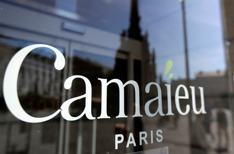 The logo of clothing company Camaieu is seen in Olomouc
