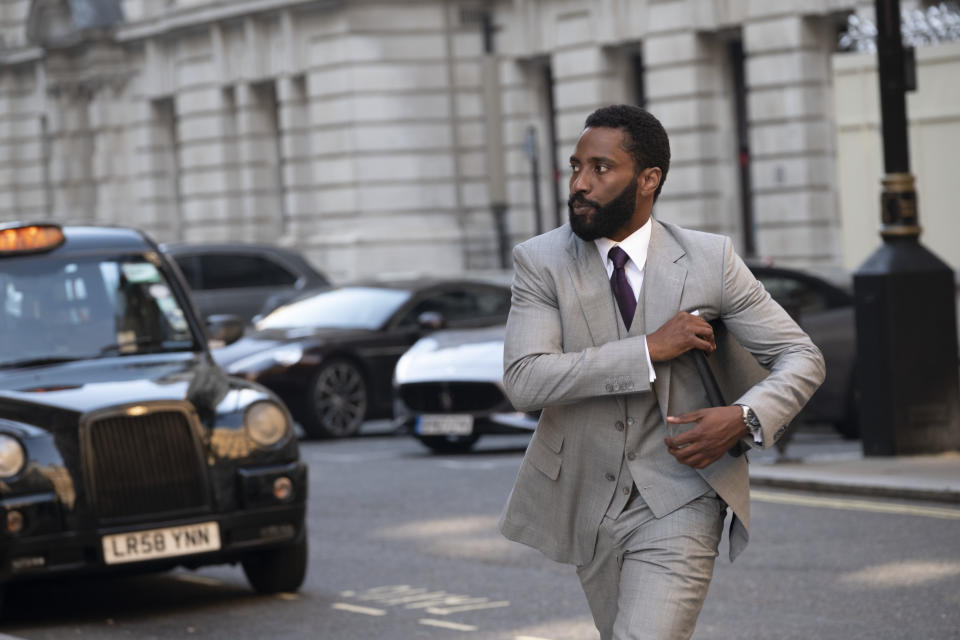 John David Washington in a still from Christopher Nolan's thriller 'Tenet'. (Credit: Warner Bros)