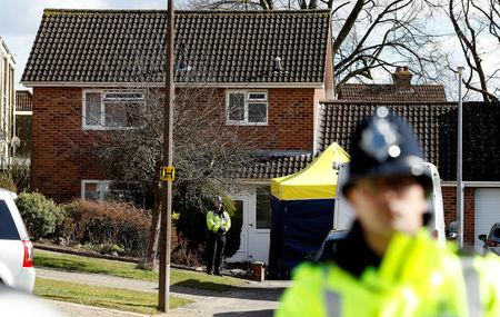 UK police: Ex-spy likely poisoned at front door with nerve agent
