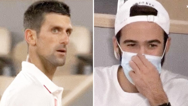 Novak Djokovic, pictured here in a fiery exchange with a Roger Federer fan at the French Open.