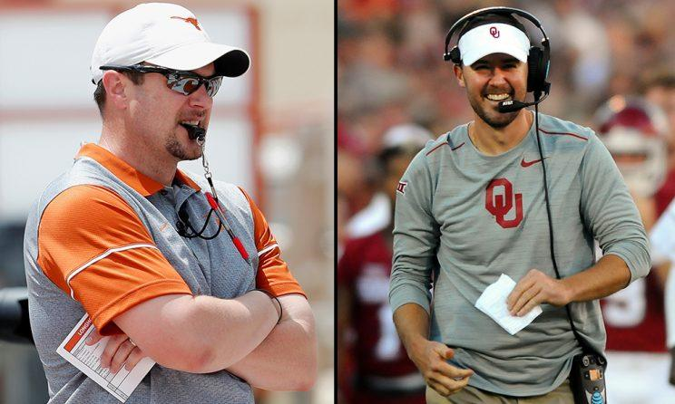Will the Big 12 be nationally relevant again? Success at Texas and Oklahoma would definitely help. (Getty)