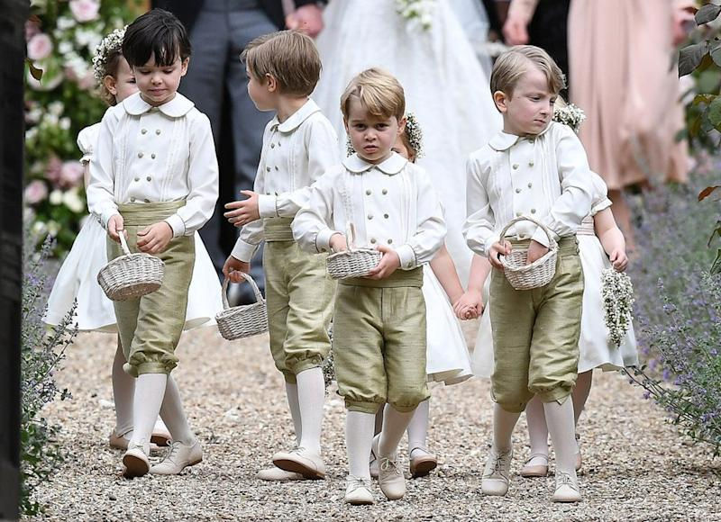 Prince George as a page boy at Pippa Middleton's May 2017 wedding.