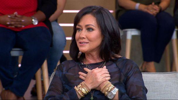 PHOTO: Actress Shannen Doherty appeared live on 'Good Morning America,' Sept. 13, 2018. (ABC News)