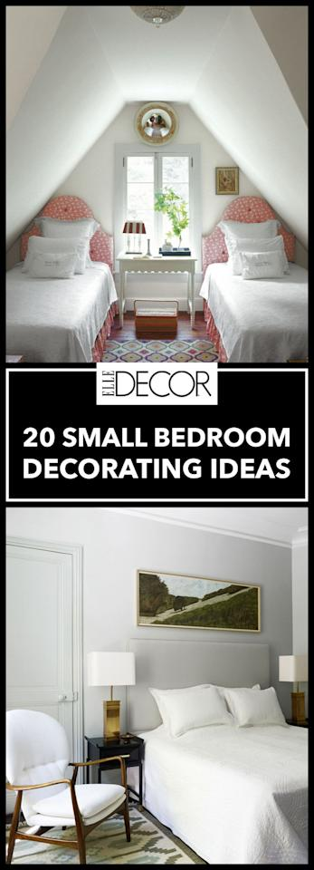 20 ways to make a big statement in a small bedroom for Room decorating ideas yahoo answers