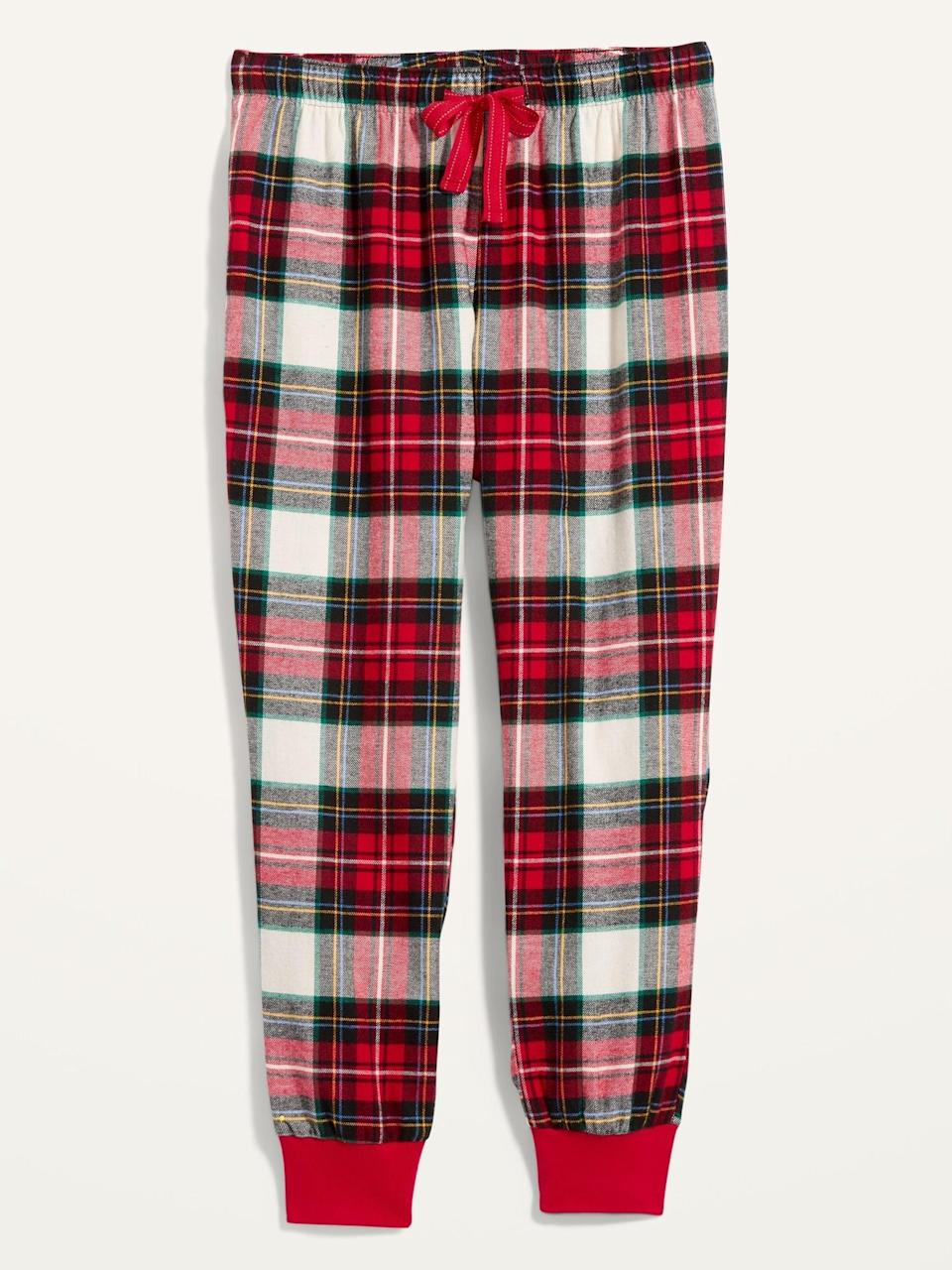 <p>Everyday joggers have been reimagined in holiday form. I can't wait to wear these <span>Patterned Flannel Jogger Pajama Pants</span> ($18, originally $20).</p>