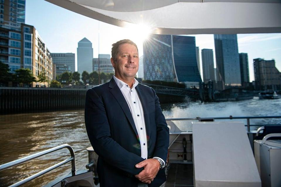 Sean Collins, CEO & co founder of Uber Boat by Thames Clippers (Daniel Hambury/Stella Pictures Ltd)