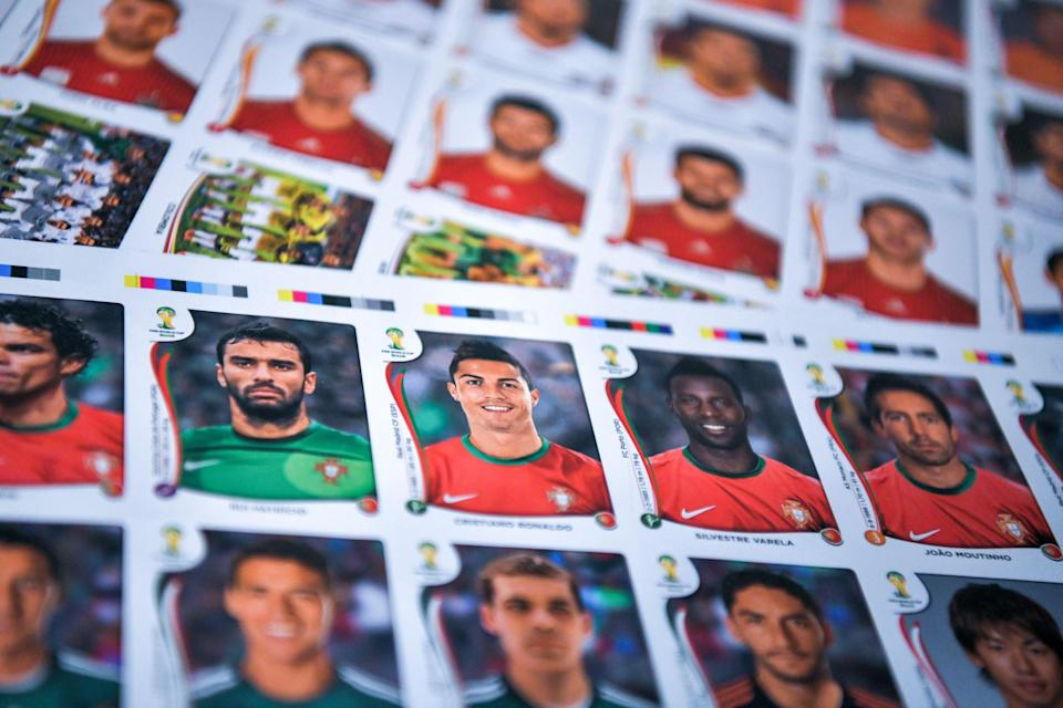 <p>The Euro 2020 album has 678 stickers to collect – including pictures of the players from all 24 competing nations</p> (AFP via Getty Images)
