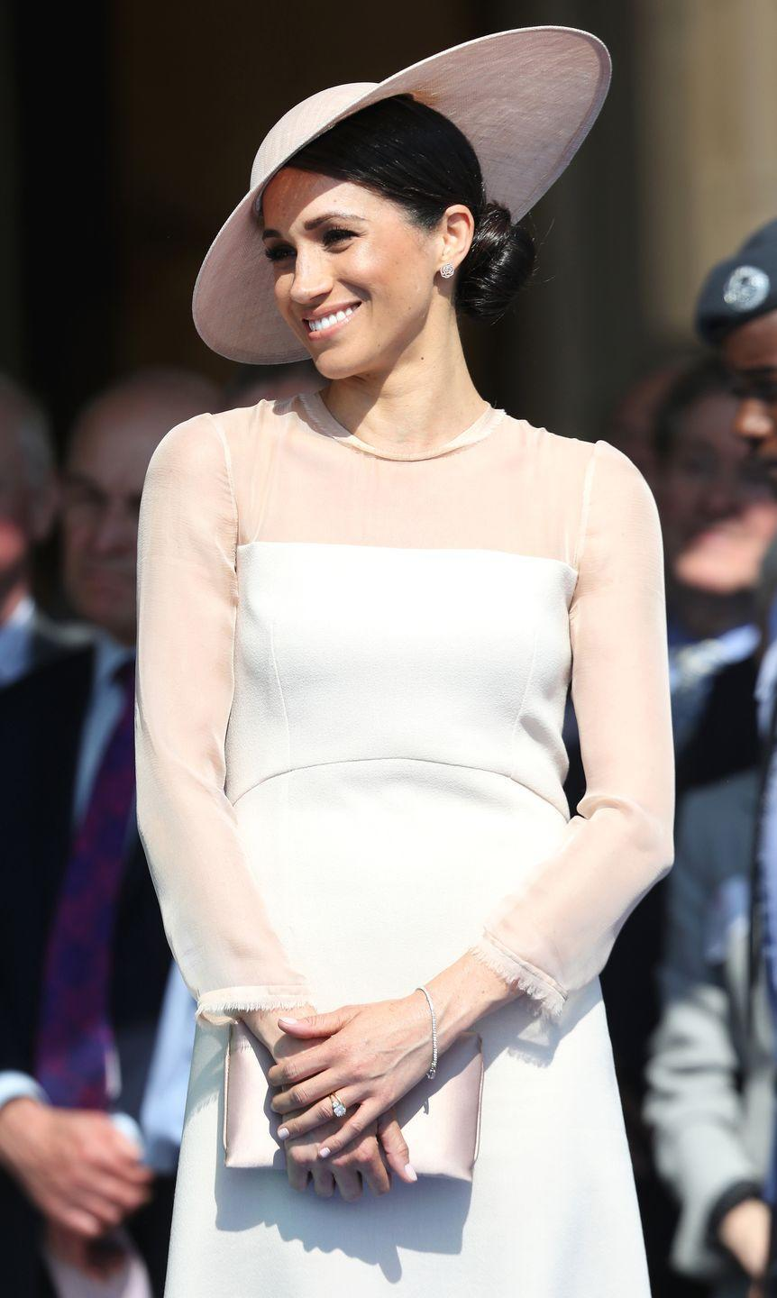 <p>Meghan, Duchess of Sussex, attends the Prince of Wales's 70th Birthday Patronage Celebration held at Buckingham Palace.</p>