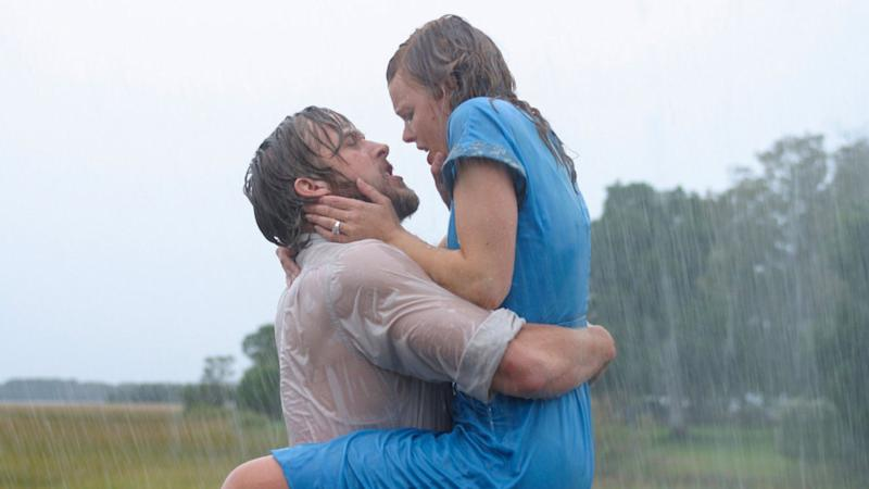 Ryan Gosling and Rachel McAdams in the film adaptation of Nicholas Sparks' <i>The Notebook</i> (New Line Cinema)